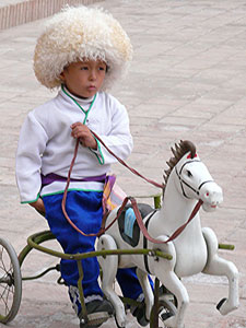 Genghis Khan on a rocking horse