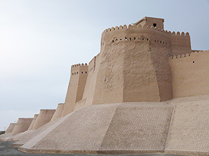 The walls of Khiva, a former slave market