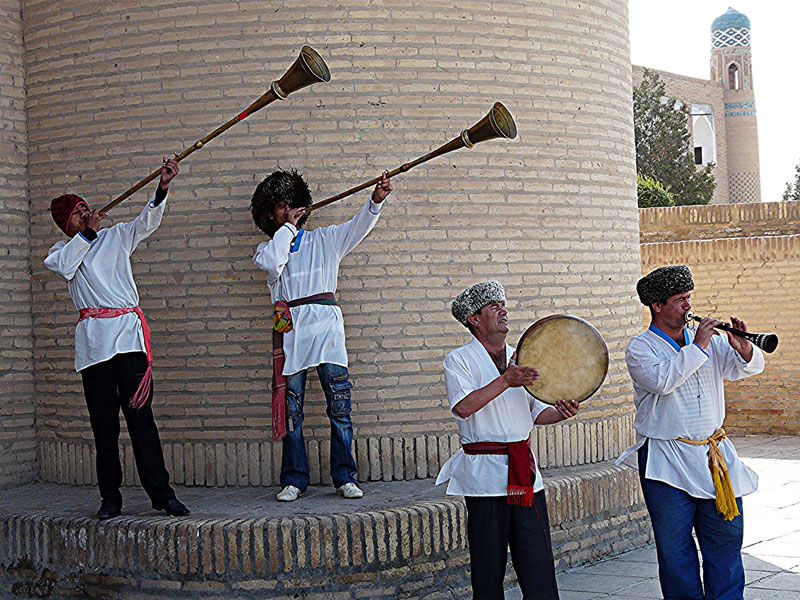 Party band in Khiva, Uzbekistan