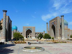 The Registan complex. David Rich photo.
