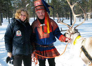 The author with a Sami reindeer herder
