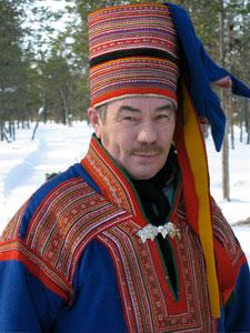 A Sami reindeeer farmer