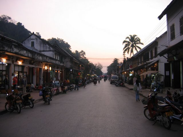Sisavangvong Road, the main drag in Luang Prabang