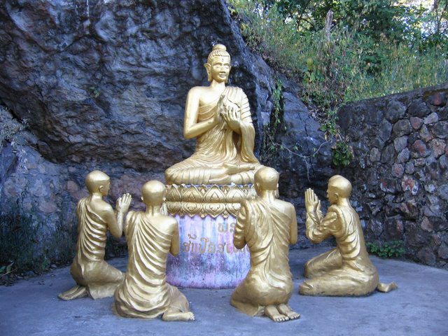 Buddhist statuary in Luang Prabang, Laos