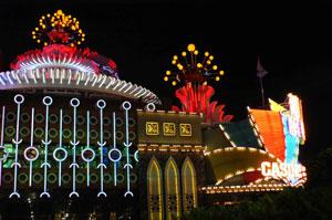 Neon to light the night - casinos in Macau