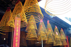 Incense coils at the A-Ma Temple