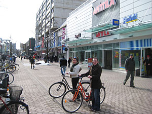 Downtown Pori is easy to navigate by foot or by bicycle