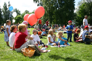 Picnicing at the Pori Jazz festival has become a tradition for many Finnish families