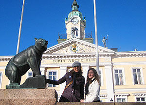 The bear is the symbol of Pori and this statue sits in front of town hall. Photos by Isadora Dunne, except when noted.