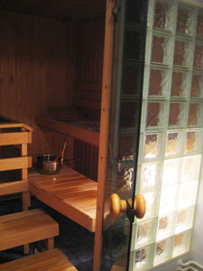 A typical in-home Finnish sauna