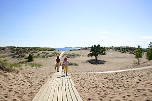 The vast dunes that surround Yyteri beach are unique for this part of the world
