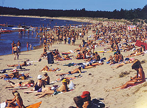 Yyteri beach is a popular summer vacation destination for the Finns