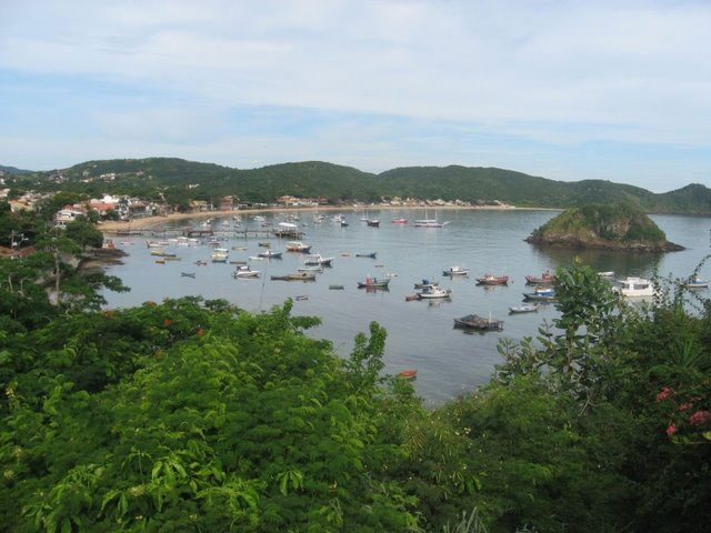 Buzios harbor from the rooftop deck of Abracadabra Pousada - photo by Richard Frisbie
