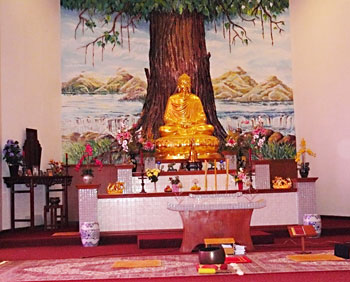 Inside the Buu Mon Temple in Port Arthur, Texas