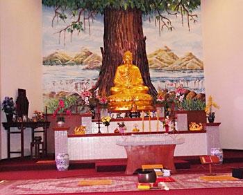 Inside the Buu Mon Temple in Port Arthur, Texas