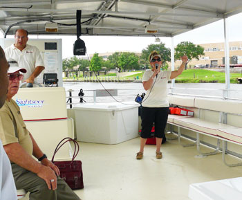 Captain Debbie Loftus of Cardinal Neches River Adventure Boat Tours