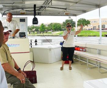 Captain Debbie Loftus of Cardinal Neches River Adventure Boat Tours