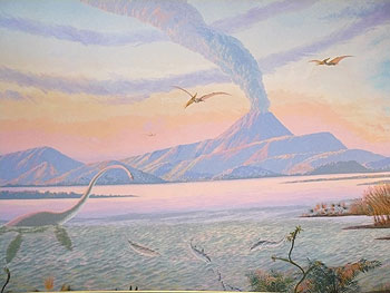 A mural at the Museum of the Gulf Coast