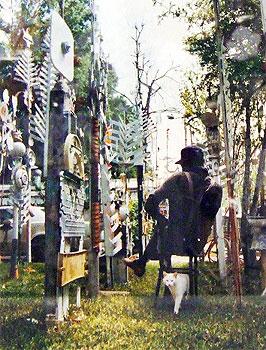 Felix 'Fox' Harris in his yard - photo courtesy of AMSET