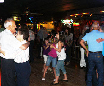 Dancing the night away at Larry's French Market in Groves, Texas