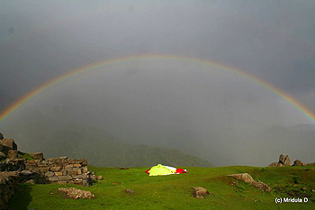 The rainbow at Triund