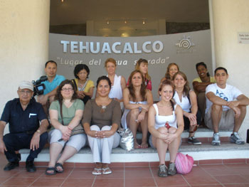 A group photo at the Tehuacalco Museum