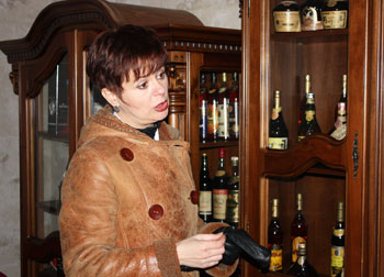 Natalya Lvovna with varieties of Kvint brandy