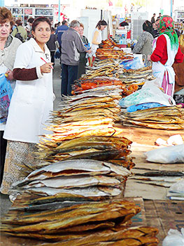 Turkmenbasy Fish Market