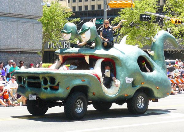 Bug-eyed monster car