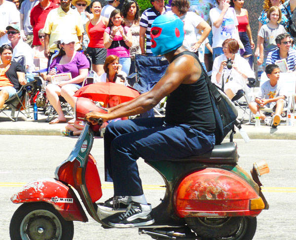 Scooter masked man
