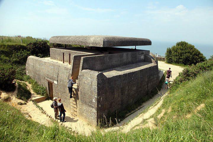 Gun emplacement at Longues-sur-mer, France. photo by Paul Shoul.