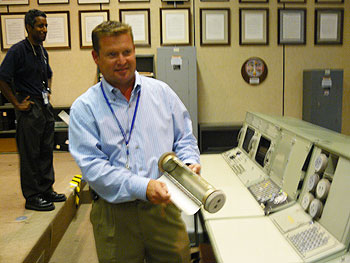 Anson Brantley of NASA shows what instant messaging was like in the era of the Apollo missions.