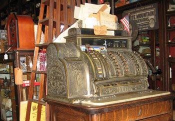 Harrison Brothers still uses their 19th century cash register.