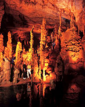 A truly awesome cave! 75,000 people visit Cathedral Caverns each year.