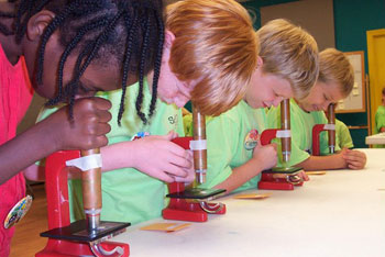 Kids get a hands-on science experience at Sci-Quest.
