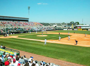 "The Huntsville Stars play in Joe Davis stadium, affectionately called, ""The Joe."""