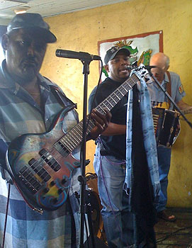 Rocking out at a Zydeco breakfast at the Cafe Des Amis in Beaux Bridge, Louisiana