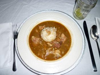 Cajun favorite jambalaya, prepared by Maureen Little of Virtual Bistro Catering