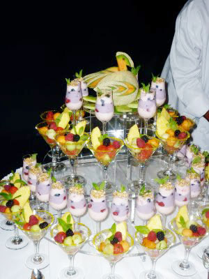 A parfait pyramid at the Hotel Monteleone