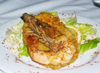 Stuffed shrimp at Jolie's Lousiana Bistro
