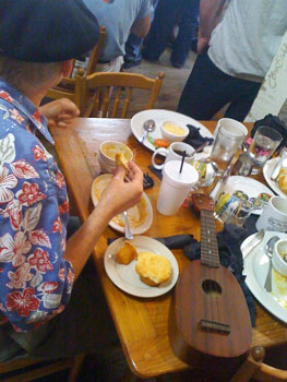 Zydeco breakfast at the Cafe Des Amis in Beaux Bridge, Louisiana