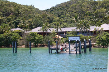The entrance to the Fitzroy Island Resort
