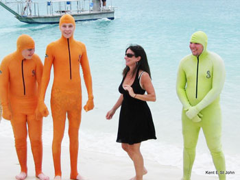 Stinger suits offer protection from stinging jellyfish.