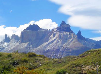 The Cuernos del Paine are an extraordinary contrast of coffee coloured granite and black slate.