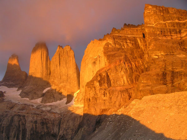 The three towers for which Torres del Paine National Park in Chile is named.