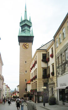The town square in Znojmo