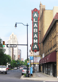 The Alabama Theater in downtown Birmingham. Photos by Shady Hartshorne and Laurie Ellis except as noted