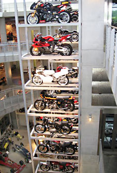 Barber Motorsports Park has over 800 motorcycles on display.