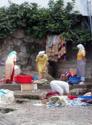 Laundry time in Chefchaouen