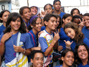 School kids in Recife